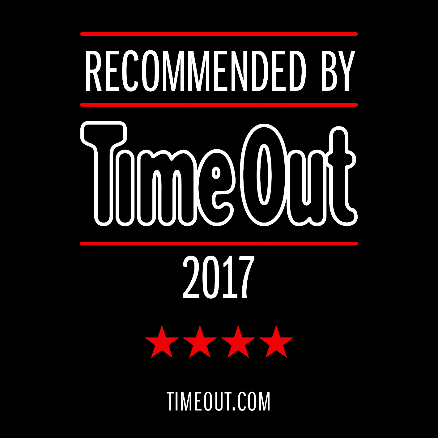 Recommended by TimeOut